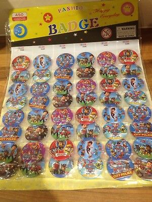 Paw Patrol Party Games (10 x PAW PATROL PIN BADGES Party Bag Fillers Birthday party favours, games)