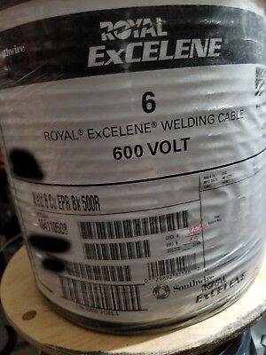 Southwire Royal Excelene 6 6awg Flexible Weldingbattery Cable 600v Black 50ft
