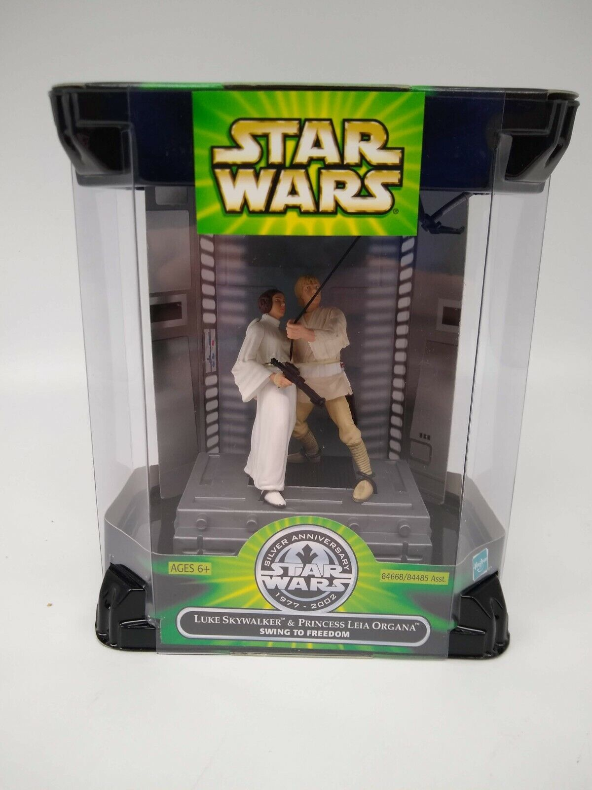 Star Wars Silver Anniversary Princess Leia and Luke Swing - Factory Sealed