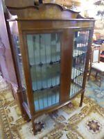 J26  Vertiko um 1880 Glas Vitrine Bleiverglasung.Schrank Englände Herzogtum Lauenburg - Mölln Vorschau