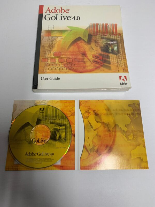 Adobe GoLive 4.0 With Serial Number For Macintosh Used