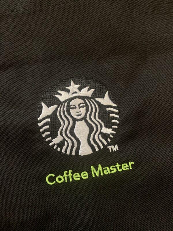 New Starbucks Coffee Black Coffee Master Apron Official Uniform Barista