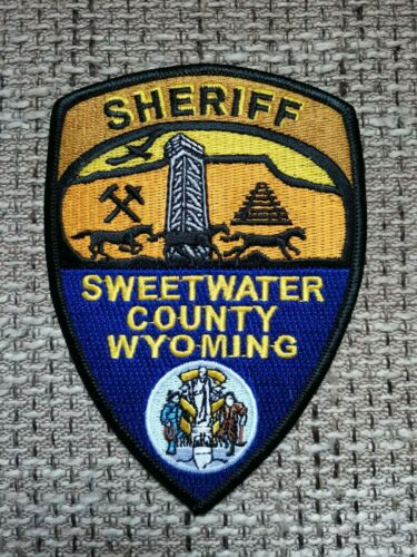 VINTAGE PATCH POLICE SHERIFF SWEETWATER COUNTY WYOMING WY