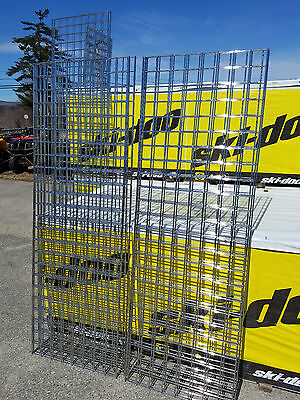 Gridwall Panels Chrome 3 X 3 Squares