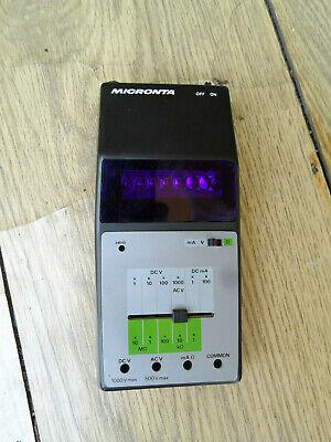 Vintage Micronta Red Led Digital Multimeter Working