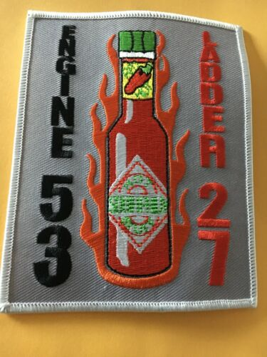 Fire Department Patch Engine 53 Ladder 27