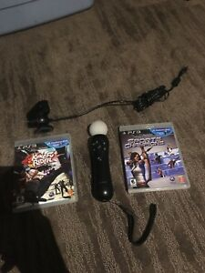 PS3 move and 2 games