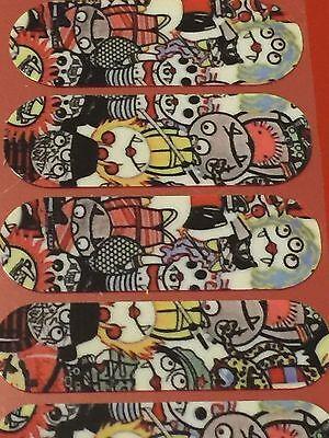 Jamberry Nail Wrap Half Sheet - Monsters NAS - Halloween - Cartoon Horror