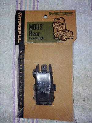 Magpul MAG248 FDE MBUS Rear Backup Sights Black