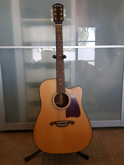 Martinez Steel String Acoustic Electric Guitar