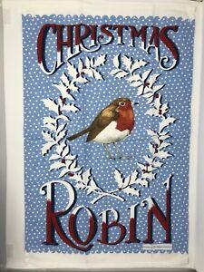 Christmas Robin Tea Towel By Emma Bridgewater New