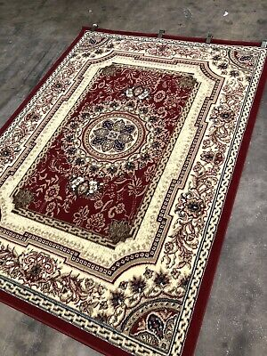 French Victorian Area Rugs 5x7 Premium Quality Turkish amara 4342 red
