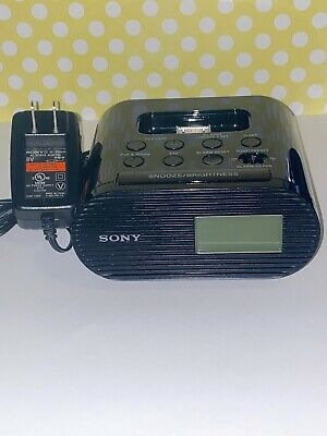 Sony ICF-C05IP 30 Pin iPhone/iPod Clock FM Radio Alarm Speaker Dock MP3 Wake Up
