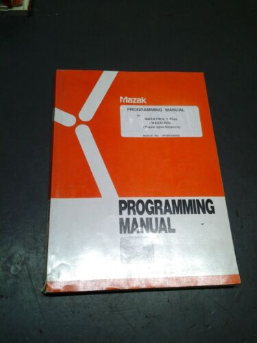 Mazak Operating Manual for Mazatrol T-Plus (Y axis specification)  (MS-297)