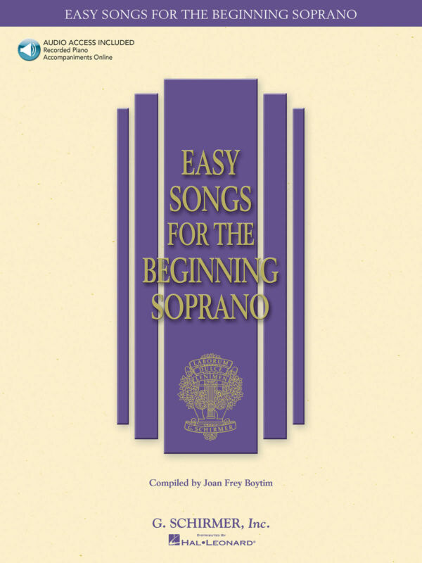 Easy Songs for Beginning Soprano Vocal Piano Sheet Music Book & Online Audio