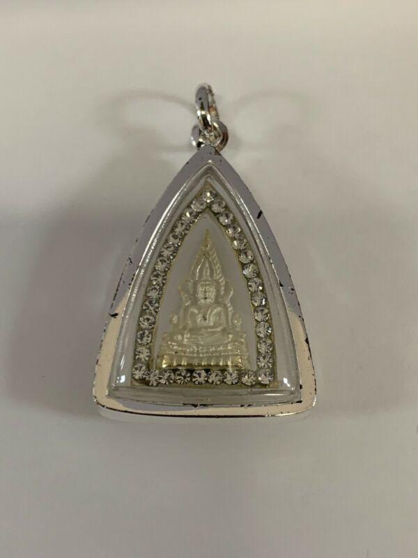 THAI AMULET, PHRA, BUDDHA, SILVER, LARGE