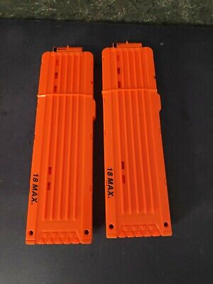 Lot of 2 - Nerf 18 Dart Ammo Clips - Ships Free !