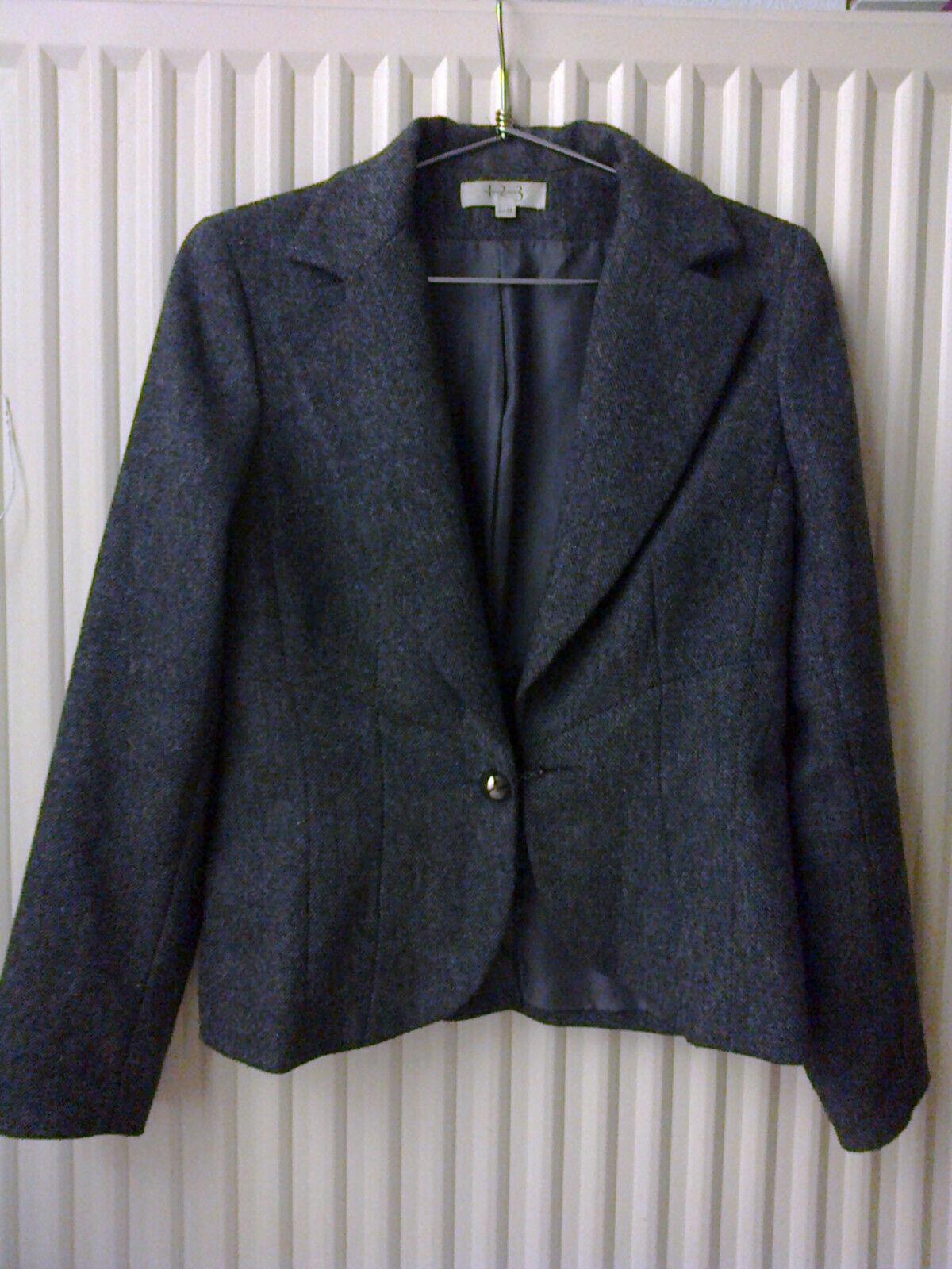 Veste tailleur lainage tweed gris t/38