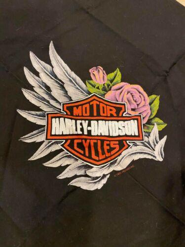 Vintage 1994 Harley Davidson Bandana. Brand New Never Used. Black/Orange.