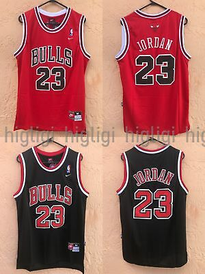 NWT Michael Jordan #23 Chicago Bulls Jersey Throwback, Stitched, Red Black