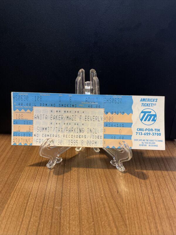 Anita Baker / Maze Frankie Beverly Concert Ticket Unused Vintage June 30 1995