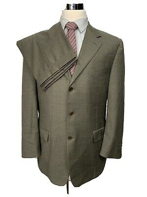 Canali Mens Italian Made Wool Brown 2pc Suit 42L