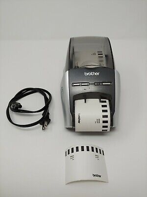 Brother Ql-570 Thermal Label Printer W Power Cord Label Roll Tested Working