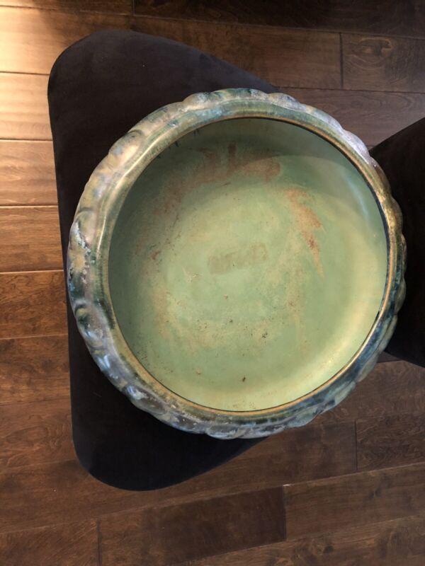 """Rare 14"""" signed Fulper centerpiece bowl"""