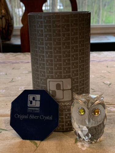 SWAROVSKI  CRYSTAL  OWL  FIGURINE~~7636NR060~~MINT