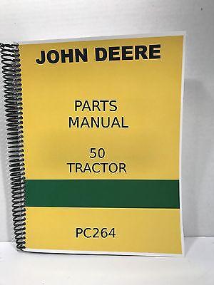 John Deere Model 50 Tractor Parts Manual Catalog