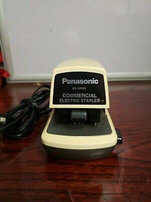 Panasonic Commercial As-300nn Electric Stapler W Adj Depth- Beige - Tested