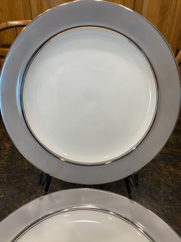 Set of 5 Easterling China Majestic Salad Plates Gray Platinum Bavaria Germany