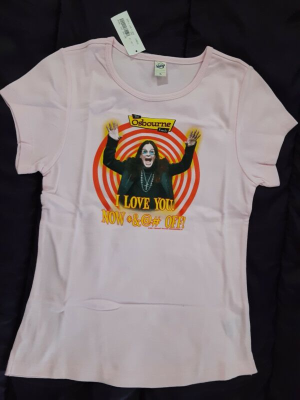 "The Osbourne Family ""I Love You.  Now *&@# Off!"" T-Shirt Ladies XL Shirt 2002..."
