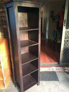Modern dark brown bookcase