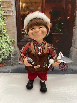 Karen Didion Originals Christmas Santa Shop Elf Figurine, 9 Inches