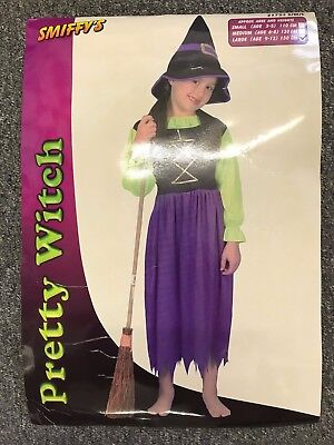 Halloween GirLs  Pretty Witch Fancy Dress Costume - Age 9 - 12 Great Party Fun](Halloween Costumes For Girls Age 9)