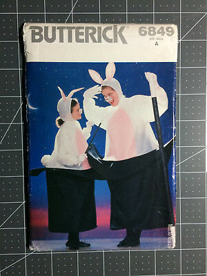 Bunny In A Hat Costume (Butterick #6849 ~ Pattern Rabbit in a Hat Bunny ~ Adult One Size ~ FF /)