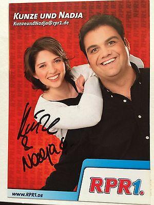 Kunze und Nadja - originales Autogramm, RPR1