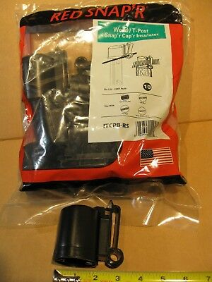 Red Snapr Itcpb-rs Wood T-post Snap Cap Electric Fence Safety Insulator 10 Pack