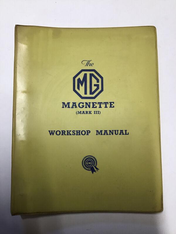 MG Magnette MK III & IV Factory BMC Manual