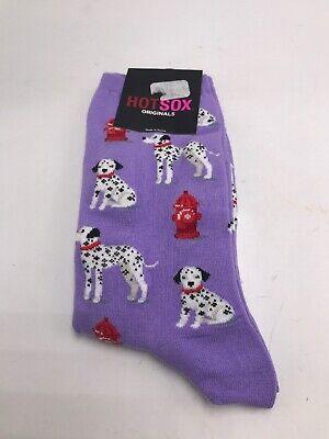 NWT Hotsox Womens  dalmatian  Dog Socks 1 Pair