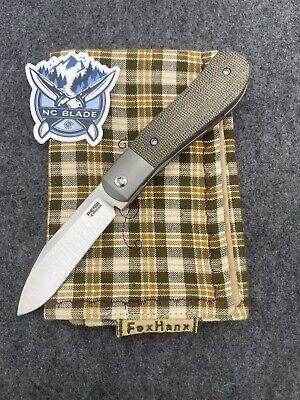 Pena Knives X Series DogLeg Green Micarta Front Flipper M390