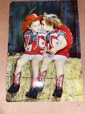 Kinder Cowboys Karneval Postkarte 50er Jahre