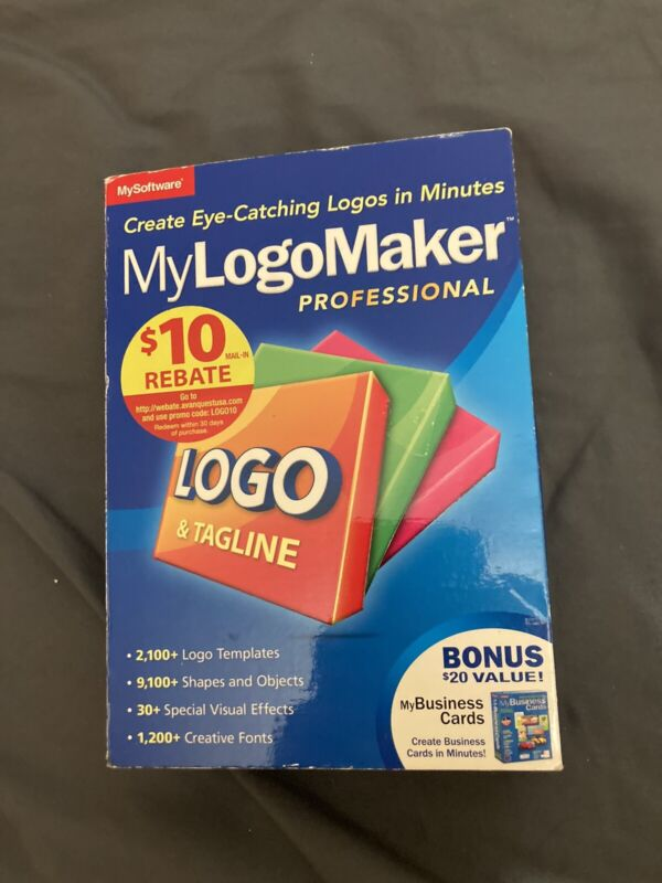 MySoftware My LogoMaker Professional With MyBusiness Cards! Sealed!