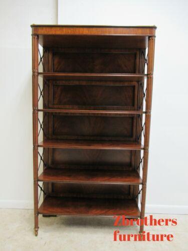 Maitland Smith Regency George IV Etagere Bookcase Shelf Display Flame Mahogany
