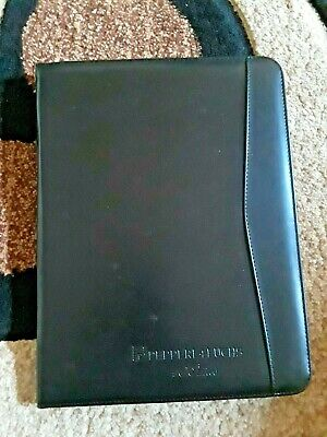 Black Leather Portfolio Wcalculator Inside - 12 34 X 10