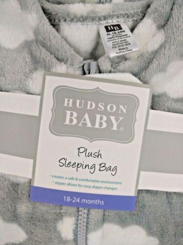 New Hudson Baby Plush Sleeping Bag Gray Clouds Unisex 18-24 XL