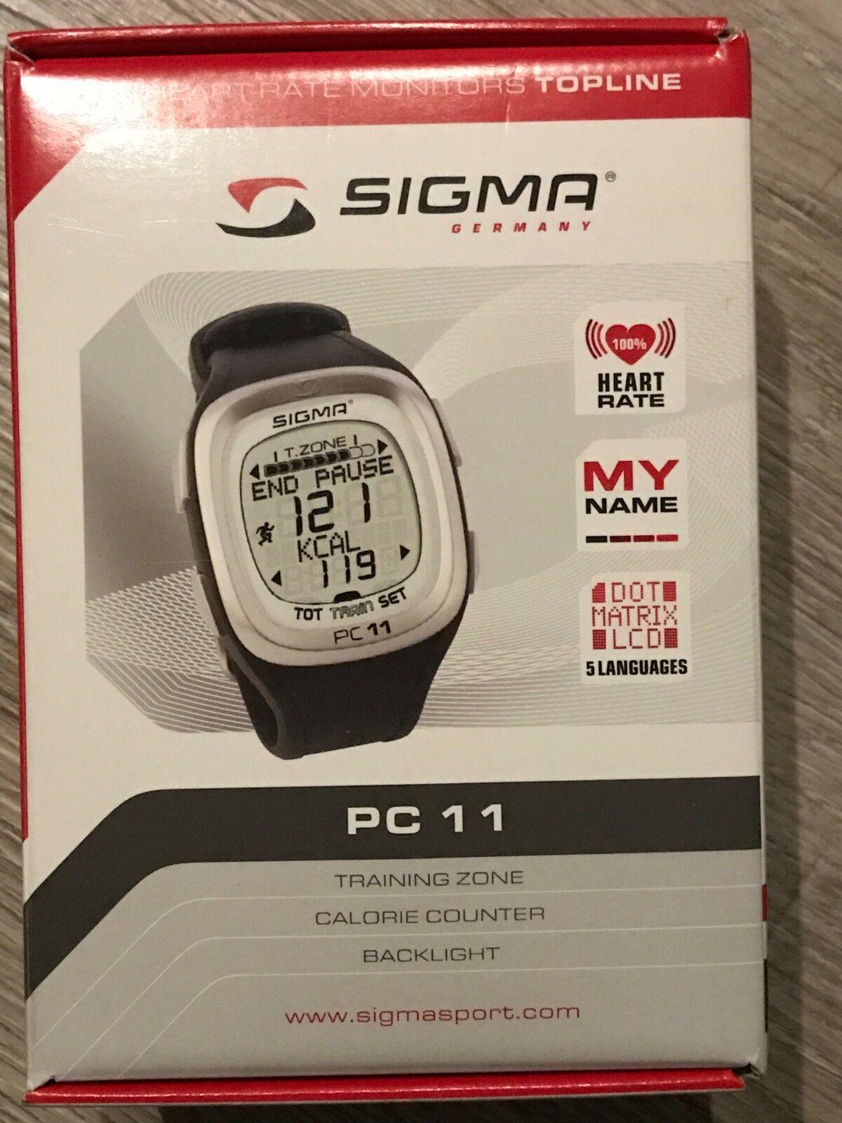 Sigma PC 11 Pulsuhr, Pulsmesser, Fitness, Sport, Heart Rate, 1x benutzt wie NEU