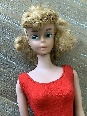 Vintage #5 Blonde Ponytail Barbie - Pretty Doll, Needs Little TLC