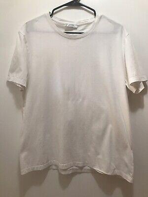 Versace Collection Medusa ½ Face White T-Shirt Silver Shiny Graphics Sz XL Men's